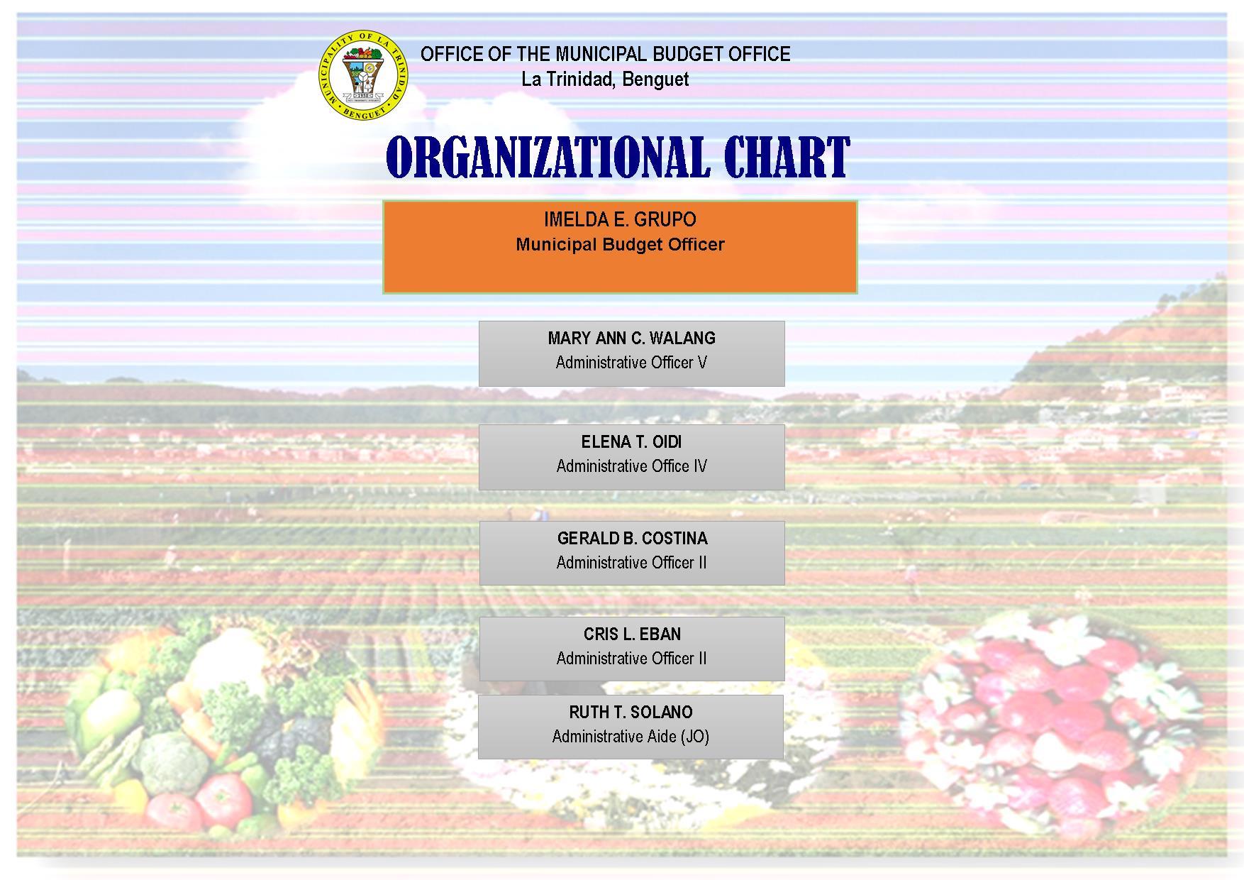 Municipal Budget Office – MUNICIPALITY OF LA TRINIDAD